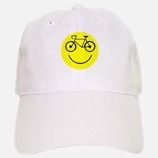 Smiley Cycle Baseball Baseball Cap