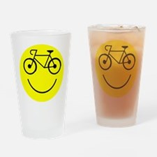 Smiley Cycle Drinking Glass