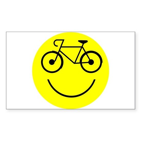 Smiley Cycle Sticker (Rectangle)