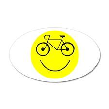 Smiley Cycle 38.5 x 24.5 Oval Wall Peel