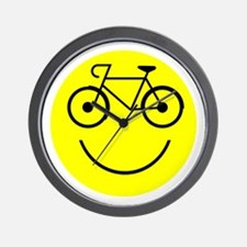 Smiley Cycle Wall Clock