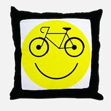 Smiley Cycle Throw Pillow