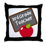 Fun 3rd Grade Teacher Gift Throw Pillow