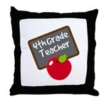 Fun 4th Grade Teacher Gift Throw Pillow