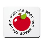 World's Best 3rd Grade Teacher Gift Mousepad