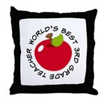 World's Best 3rd Grade Teacher Gift Throw Pillow