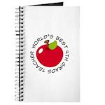 World's Best 4th Grade Teacher Gift Journal