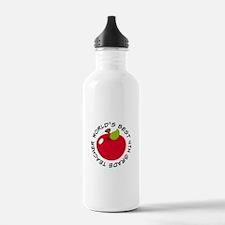 World's Best 4th Grade Teacher Gift Sports Water Bottle