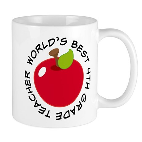 World's Best 4th Grade Teacher Gift Mug