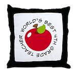 World's Best 4th Grade Teacher Gift Throw Pillow