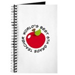 World's Best 6th Grade Teacher Gift Journal