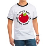 World's Best 6th Grade Teacher Gift Ringer T