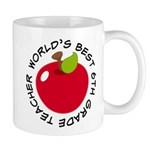 World's Best 6th Grade Teacher Gift Mug