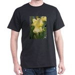 Yellow iris Black T-Shirt