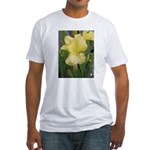 Yellow iris Fitted T-Shirt
