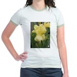 Yellow iris Jr. Ringer T-Shirt