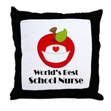 World's Best School Nurse Gift Throw Pillow