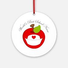 World's Best School Nurse Gift Ornament (Round)