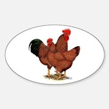 Production Red Chickens Decal