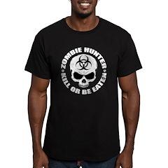 Zombie Hunter 4 Men's Fitted T-Shirt (dark)