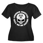 Zombie Hunter 4 Women's Plus Size Scoop Neck Dark