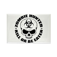 Zombie Hunter 4 Rectangle Magnet (100 pack)