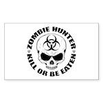 Zombie Hunter 4 Sticker (Rectangle 50 pk)