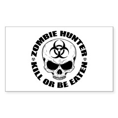 Zombie Hunter 4 Sticker (Rectangle 50 pk)
