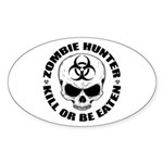 Zombie Hunter 4 Sticker (Oval 10 pk)