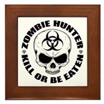 Zombie Hunter 4 Framed Tile