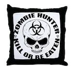 Zombie Hunter 4 Throw Pillow