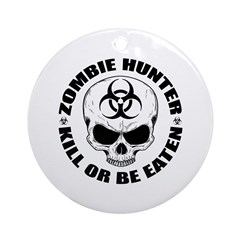 Zombie Hunter 4 Ornament (Round)