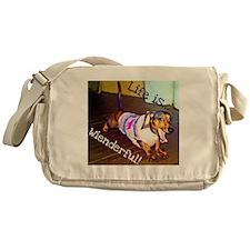 Dashing Doxie Messenger Bag