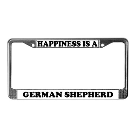 Happiness Is A German Shepherd License Plate Frame