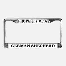 Property Of A German Shepherd License Plate Frame