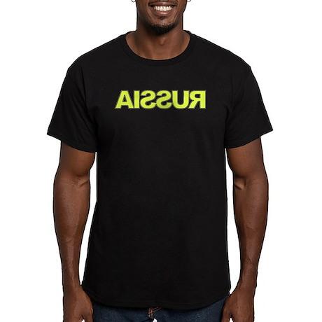 RUSSIA Reversed Men's Fitted T-Shirt (dark)