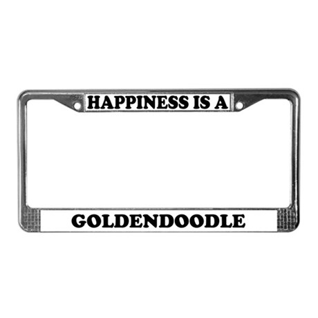 Happiness Is A Goldendoodle License Plate Frame