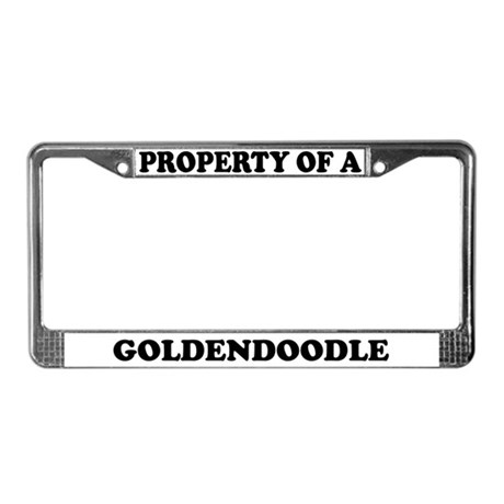 Property Of A Goldendoodle License Plate Frame