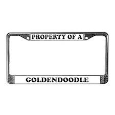 Property Of A Goldendoodle License Plate Frame