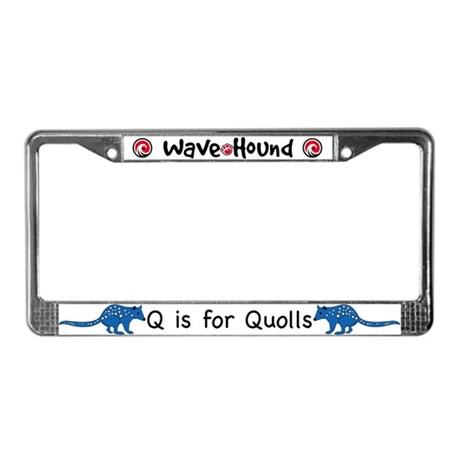 Q is for Quolls License Plate Frame