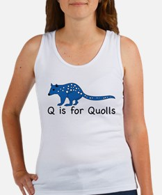 Q is for Quolls Women's Tank Top