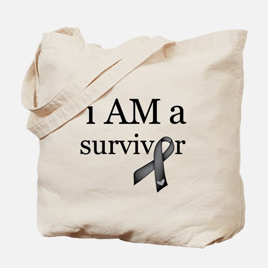 i AM a survivor (Black) Tote Bag