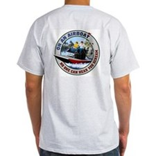 On an Airboat No One can Hear Ash Grey T-Shirt