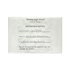 'Breakfast Club Detention' Rectangle Magnet