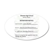 'Breakfast Club Detention' 38.5 x 24.5 Oval Wall P