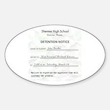 'Breakfast Club Detention' Decal