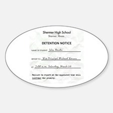 'Breakfast Club Detention' Sticker (Oval)