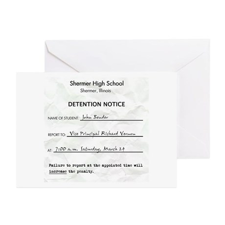 'Breakfast Club Detention' Greeting Cards (Pk of 1