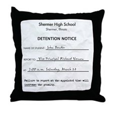 'Breakfast Club Detention' Throw Pillow
