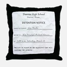 'Breakfast Club Detention' Throw Pillow